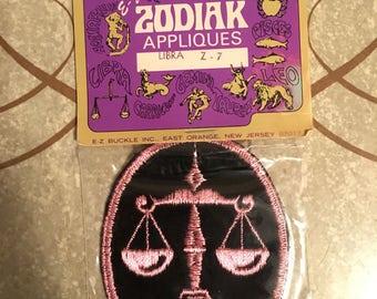 Zodiac appliqués libra sew on patch NOS