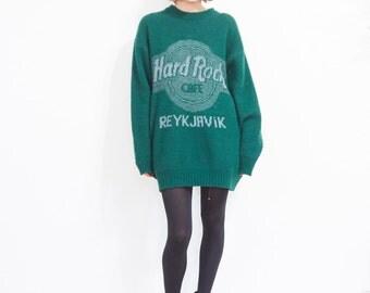 90s Hard Rock Reykjavik Slouchy Wool Sweater