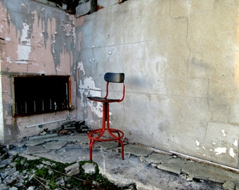 Vintage Mid Century Industrial Architects Drawing Swivel Chair