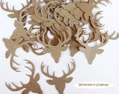 Deer Confetti  - Brown - Scrapbook Embellishment, Table Decoration, Card Making - 25 pieces