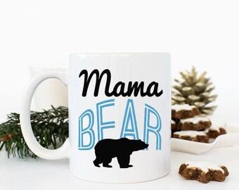 Mama Bear Mug, Mama Mug, Bear Mug, Bear Coffee Cup, Mom Coffee Mug, Gifts for Mother, Mothers Day Gift for Grandma, New Parents Gift, mommy