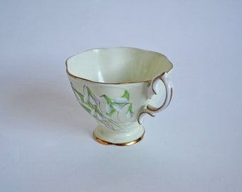 Vintage Laurentian Snowdrop Royal Albert China Teacup in Pale Mint Green- Orphan Tea Cup ONLY