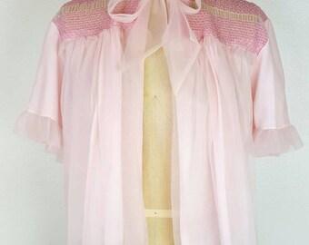 Bubblegum Pink Bed Jacket - Large