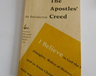 The Apostle's Creed Book  Miniature Intro to Apostle's Creed  1966