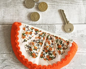 Slice of Orange Fruit Coin Purse