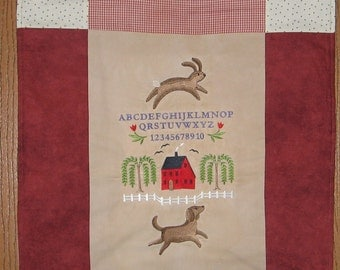 Recipe Wall Hanging Prim Embroidered
