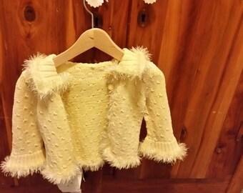 Handmade Baby Yellow Norwegian Spirit Cardigan