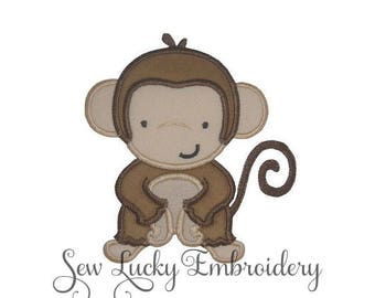 Little Monkey Appliqued Embroidered Patch, Sew or Iron on