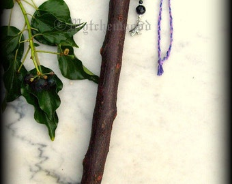 Blood Wolf - Blackthorn Wand:  Witchcraft, Druid, Celtic, Wicca, Pagan
