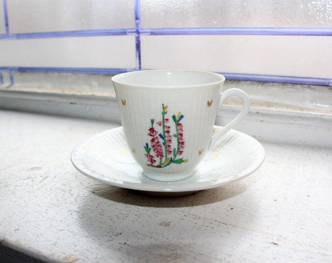 Vintage Rorstrand Sweden Bone China Teacup and Saucer Demitasse