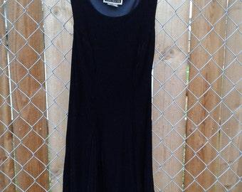 90s vintage little black velvet dress