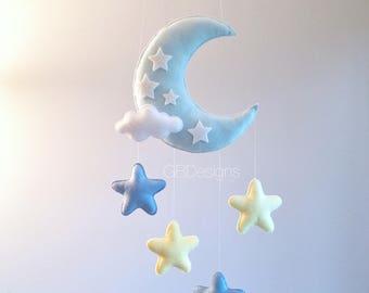 Baby mobile - Moon mobile - Crib Mobile moon - Baby Mobile Stars