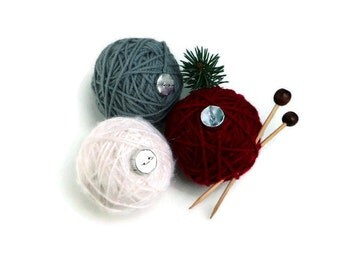 Yarn Ball Knitting Ornament, Knitter Gift, Christmas Tree Ornament