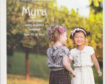 Girls' Jumpsuit Pattern Myra by Violette Field Threads Sizes 2T - 10 Uncut