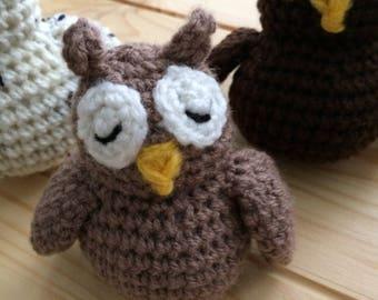 Small Owl PDF Crochet Pattern