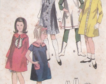 1960's Sewing Pattern - Butterick 3694 Girls Dress or Jumper Size 8 used and complete
