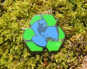 Recycle Earth Enamel Pin- EP102- Reduce, Reuse, Recycle, Earth Day and Environment Pins