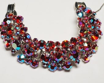 Juliana D&E Red Pink AB Rhinestone Bracelet