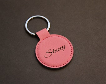 Personalized Leatherette Keychain, Key Chain, Key Fob, Gifts for Mom, Engraved, Purse Accessories, Stocking Stuffers, Christmas, Gifts
