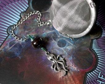 Lovecraftian Cthulhu Beaded Mesh Tea Ball Infuser