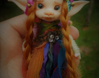 sweet  ooak posable   tiny  fairy fairie fae elf
