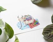 Yak 5x7 Art Print - Boho Party Animal Giclée Print