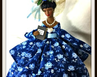 Black Doll, African American Virtuous Woman Doll, Mother's Day Gift, Porcelain Doll, Inspirational Home and Office Decor, OOAK Handmade