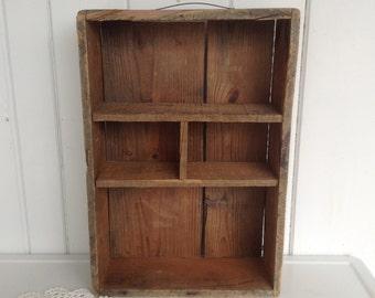 "12"" x 18"" x 4 1/2"" Vintage Box Dovetailed Wall Shelf Storage Primitive Home Decor Stackable"