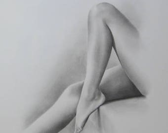 Female Nude Art, Order Nude Sketch, Nude Drawing, Nude Sketch, Pencil Sketch, Erotic Drawing, Body Nude Art, Classical Nude, MADE to ORDER