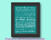 Gilmore Girls Quotes 11 by 14 Typography Art Print