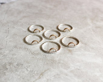 Crescent Ring, Stacking Ring, Dainty Ring