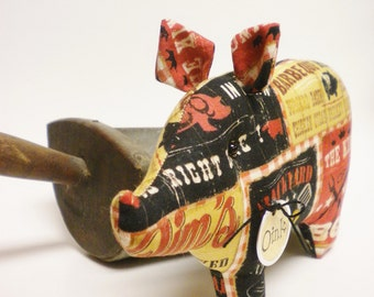 Barbecue Pig - Made To Order, Primitive Animals, Country Farmhouse Decor