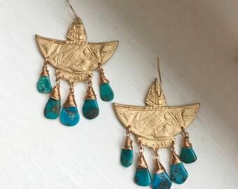 Thunderbird Chandelier Earrings