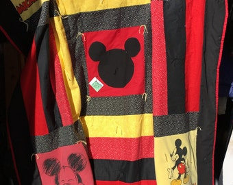Mickey Mouse Disney T Shirt Memory Quilt