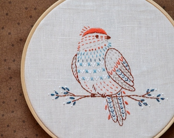 Bird hand embroidery patterns, bird embroidery design, bird decor, DIY gift by NaiveNeedle