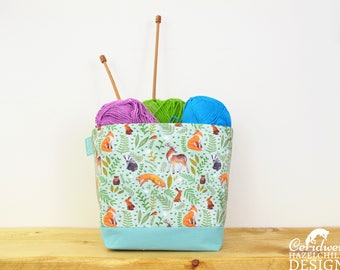 Woodland Animals Fabric Storage Box, Storage Basket, Fabric Basket, Fabric Organiser, Storage Bin