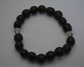 Buddhist mala prayer beads for the wrist, seed beads, Japanese juzu