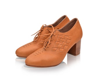 PALMAROSA. Women's oxfords shoes / leather shoes / lace up booties / leather oxfords. Sizes 35-43. Available in different leather colors