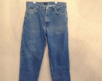 Tommy Hilfiger Vintage 40 x 32 Blue Stonewashed Jeans Flag Straight Classic Fit