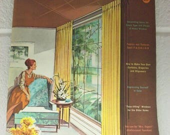 1961 KIRSCH DRAPERY GUIDE To Window Beauty Book Mid Century Decor Home How-To Sewing Design Decorating