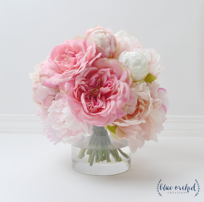 Peony Arrangements: Peony Arrangement Silk Peonies Flower Arrangement Silk