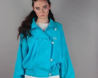 90's Puma B-Boy Style Turquoise Retro Track Jacket Windbreaker
