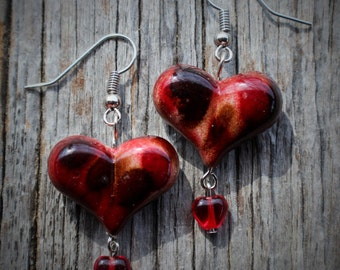 Acrylic Puff Heart Earrings