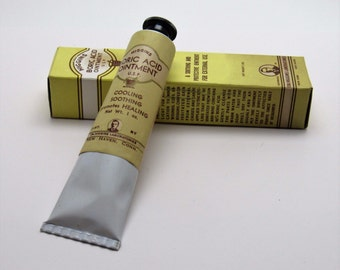 Vintage Tube of HIGGINS Boric Acid Ointment 1940's with Box Sealed Perfect Condition NOS