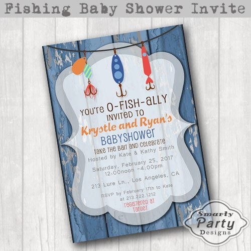 fish ally invited fishing baby shower invitations invite