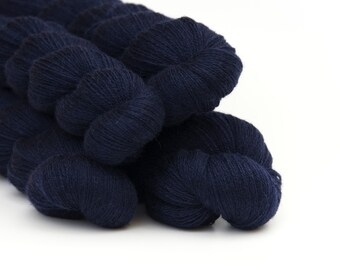 Remake: Reclaimed Laceweight Merino Yarn LOT, Navy Blue, 2712 Yards