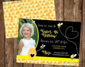 Bumblebee Birthday Invitation - Bumblebee Birthday Party - Bumblebee Invite  - Bee Party Idea - Bee Birthday - Bumble Bee Party - Bee Party