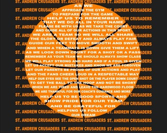 The Basketball Prayer, Basketball, Sports Prayer, Senior Night, Sports Banquet, Basketball Print