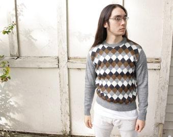 90s Checkered Sweater