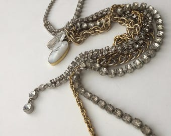 Grunge Collection's 'Long Rhinestone and Mixed Metal' Bracelet